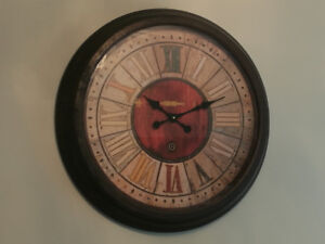 """Elegant 28"""" x 4"""" Over-Size Wall Clock with Roman Numerals"""