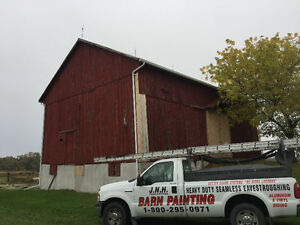 Barn repairs and painting, heavy duty seamless eavestroughing London Ontario image 5