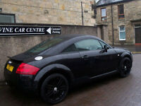 "05 05 AUDI TT 1.8 TURBO 20V COUPE 18"" BLACK ALLOYS HEATED LEATHER FSH BLUETOOTH"