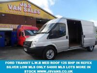 2012 12 FORD TRANSIT 350 LWB LWB 125 BHP MED ROOF IN RELFEX SILVER 1 OWNER LOW M
