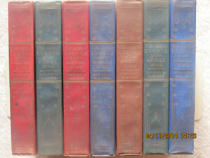 THE GREAT EVENTS OF THE GREAT WAR (1923) - 7 VOLS.