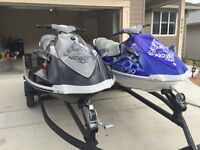 2 Yamaha Waverunners VERY LOW HOURS!!