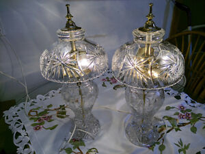 Solid Crystal Table Lamps/1 pair