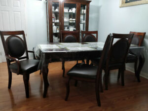 Dining Table Set & Hutch and Buffet