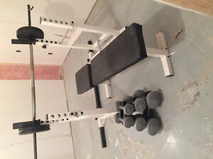 Weight bench, rack and more! (Sold)