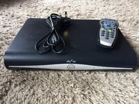 Sky + HD box with remote.