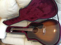 GUITARE :Beautiful Guild D6 six-string acoustic (1993) with case