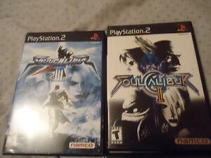 Soul Calibur 2 et 3 + Time Splitter Future Perfect playstation 2