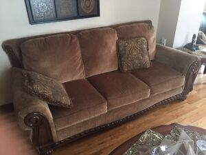 Set of 3 couches & 3 tables (like new condition)
