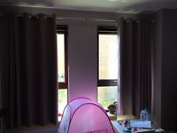 Dunelm Eyelet curtains -Mauve