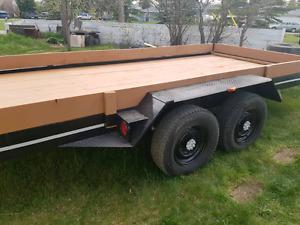 Tandem 16ft car hauler ..H / D axles  7000lb x2