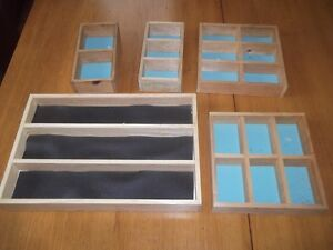 Small Wood Sectioned Trays