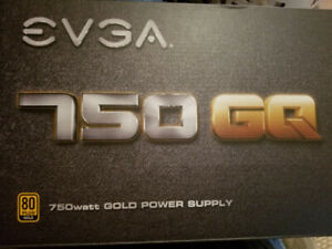 EVGA 750 GQ PLUS Gold Power supply(PSU 750W)