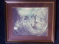Mining picture with nice wooden ,solid frame.