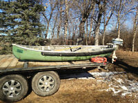 canoe with outboard