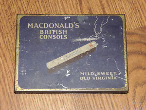 MACDONALD's British Consols Cigarette Vintage Collector Tin/Case