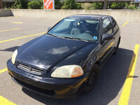 1998 Honda Civic Hatchback Black