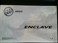 Owners manual 2010 Buick Enclave