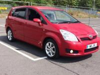 Toyota Verso 1.8 SR 7 Seater MPV Estate Low Miles Long Mot Cruise Parking Sensor
