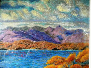 Original British Lake District Pastel by Billie Appleton 1987 Stratford Kitchener Area image 2