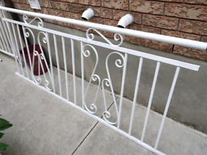Wrought iron fence railing
