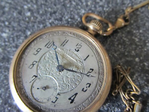 "A 2"" diameter Waltham pocketwatch with ceramic face and works v Gatineau Ottawa / Gatineau Area image 2"
