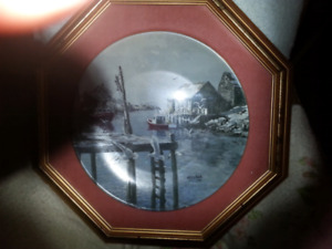 Collector plate in frame
