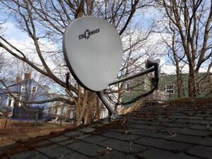 SHAW satellite dish and High Definition receivers with remotes