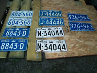 VINTAGE LICENCE PLATE PAIRS