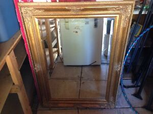 Plaster mirror - antique style - detailed frame