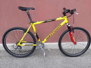 GARY FISHER,ROCK SHOX,27SPEED (BONTRAGER AND SHIMANO COMPONENTS)