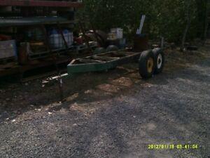 frame de remorque à essieux double 10 tons