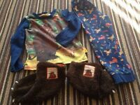 Age 5-6 gruffalo pyjamas and size 11 gruffalo slipper