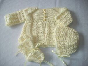 BRAND NEW HAND CROCHETED 2pc,3pc & 4pc BABY SWEATER SETS ON SALE