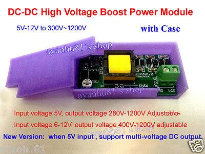 High Voltage Dc-dc Boost Converter 5v-12v To 300-1200v Power Supply Module Case