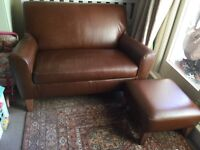 Next 'Alfie' snuggler sofa two seater and footstool