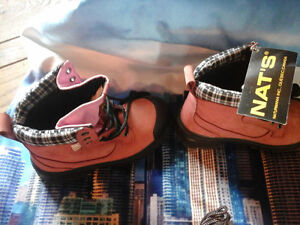 pink work boots size 7