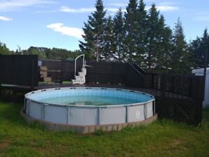 18ft x 52 in above ground pool and deck for sale