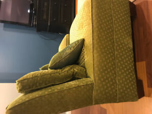 Set of 2 armless chairs.