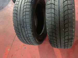 2 michelin used tire size : 225 /60R /16  only $60 both