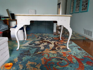 Delicraft French Provincial Solid Wood Desk, asking $75