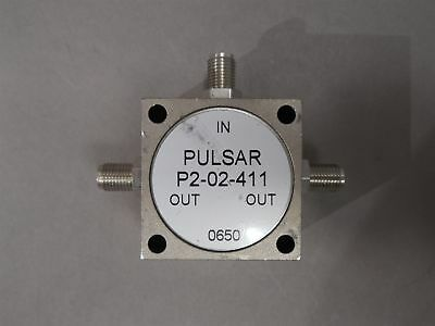 Pulsar P2-02-411 2-way Power Divider 0.3-60mhz Vswr 1.301 Max Used