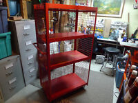 Commercial Red Utility Cart in Excellent Condition