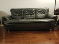 Living room set - Sofa, Loveseat, Couch. and Settee - Leather
