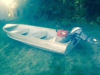 14 ft aluminum boat ,, moving must sell
