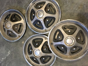 "Vintage 70""s Ford F150 15"" hubcaps"