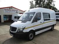 64 reg MERCEDES BENZ SPRINTER 313 MWB, CREW, MESS UNIT, WELFARE TOILET VAN 18k