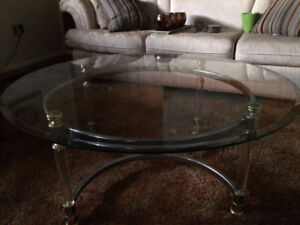 """Glass Coffee table/2 End table """"SOLD"""""""