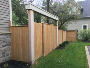 Pressure treated sienna brown fence panels 34'
