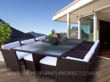 NEW 12 Seater Wicker Outdoor Dining Furniture - Wollongong Areas Wollongong 2500 Wollongong Area Preview